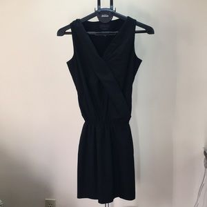 MADE IN ITALY Black wrap dress